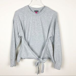 Vince Camuto Tie Front Sweatshirt Top Size Small